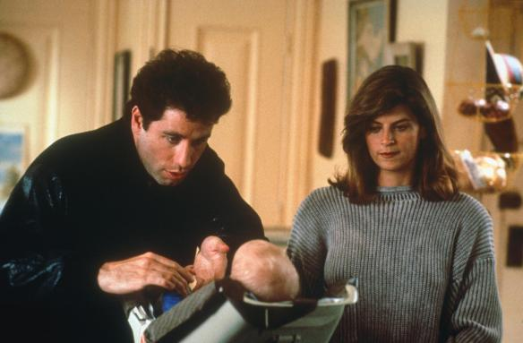 John Travolta and Kirstie Alley in that seminal 80s classic, Look Who's Talking.