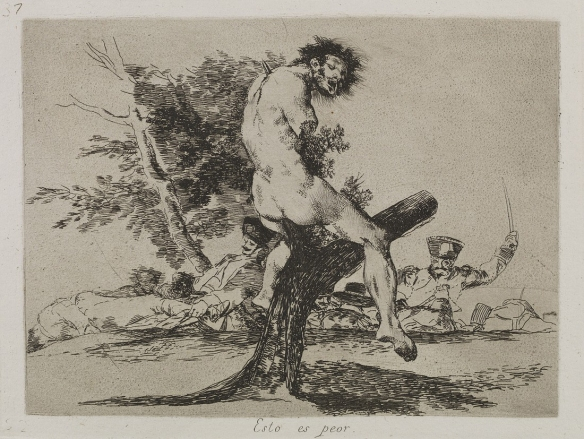 Esto es peor (This is worse); plate 37 from the series known as Los Desastres de la Guerra (The Disasters of War) Made 1810-20; first published in 1863 Francisco Jose de Goya